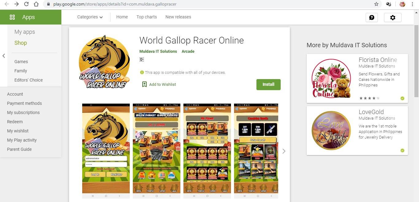 World Gallop Racer App